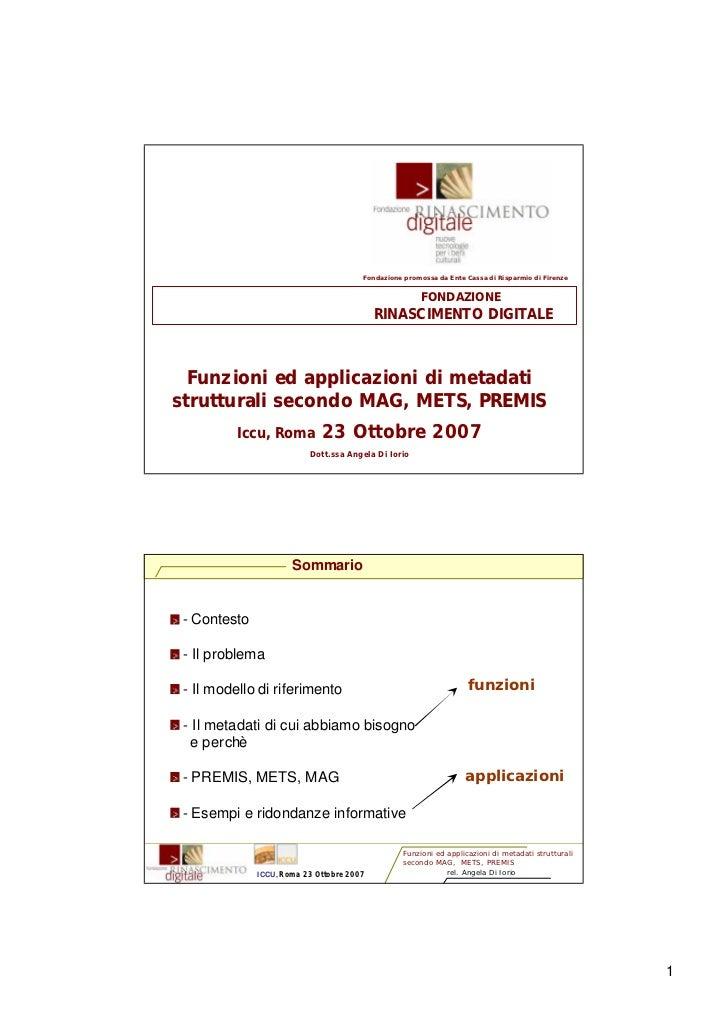 Fondazione promossa da Ente Cassa di Risparmio di Firenze                                                          FONDAZI...
