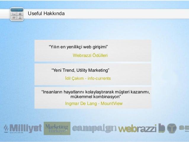 """""""Yılın en yenilikçi web girişimi"""" Webrazzi Ödülleri """"Yeni Trend, Utility Marketing"""" İdil Çakım - info-currents """"Insanların..."""