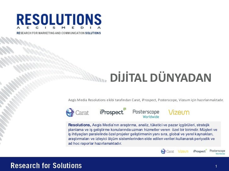 RESEARCH FOR MARKETING AND COMMUNICATION SOLUTIONS                                                        DİJİTAL DÜNYADAN...