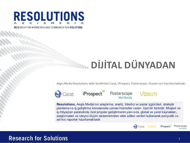 RESEARCH FOR MARKETING AND COMMUNICATION SOLUTIONS                                                         DİJİTAL DÜNYADA...