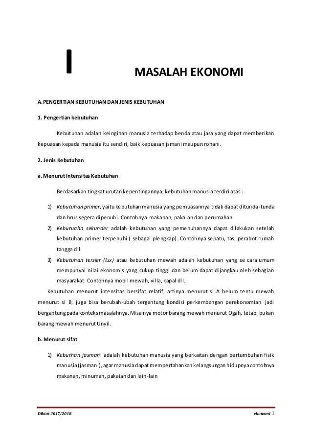 Diktat Ekonomi 2017 2018