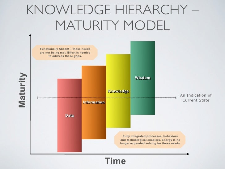KNOWLEDGE HIERARCHY –           MATURITY MODEL            Functionally Absent – these needs            are not being met. ...