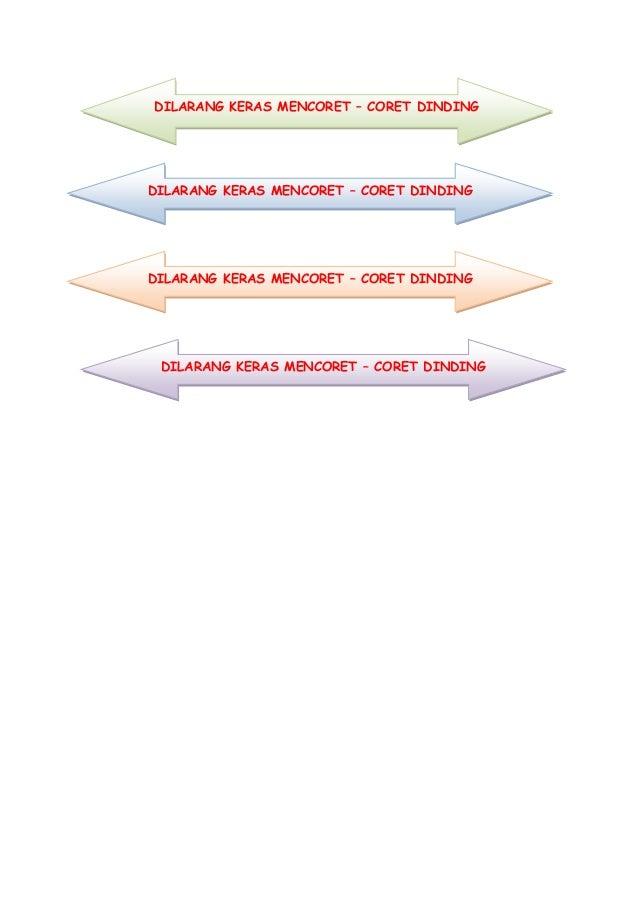 DILARANG KERAS MENCORET – CORET DINDING DILARANG KERAS MENCORET – CORET DINDING DILARANG KERAS MENCORET – CORET DINDING DI...