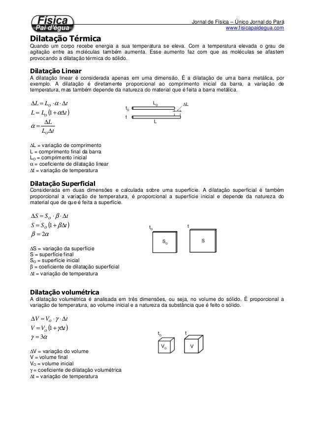 Jornal de Física – Único Jornal do Pará www.fisicapaidegua.com Quando um corpo recebe energia a sua temperatura se eleva. ...