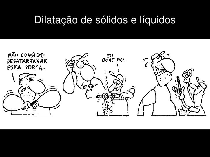 Dilatação de sólidos e líquidos