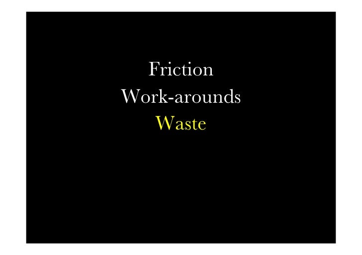 Friction words   Friction Work-arounds     Waste