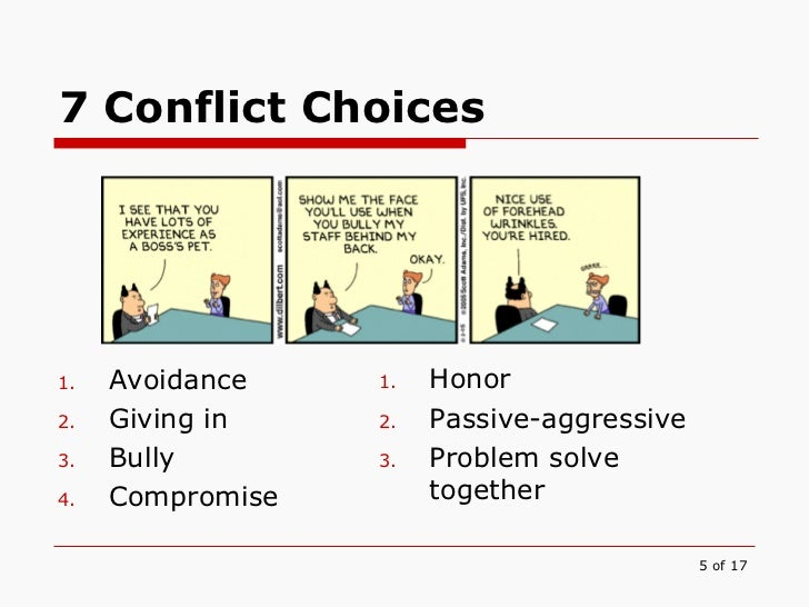 compromise vs confrontation Collaboration and compromise can be used to resolve conflicts by working toward mutual understanding, brainstorming, ranking solutions, and negotiating a solution.