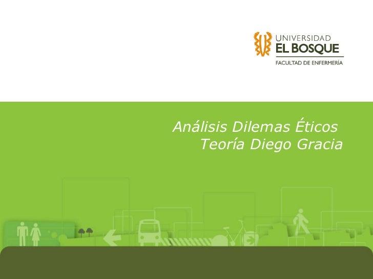 Análisis Dilemas Éticos  Teoría Diego Gracia