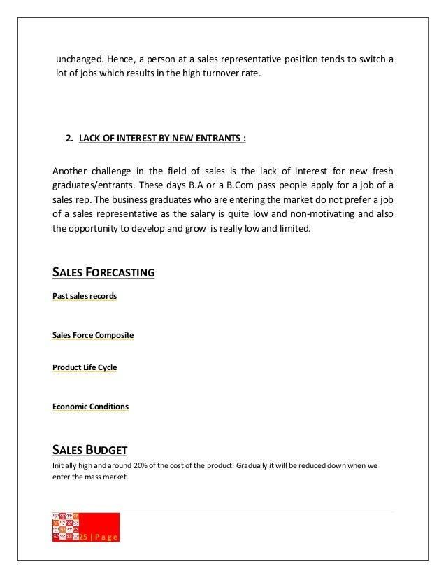 business proposal representative