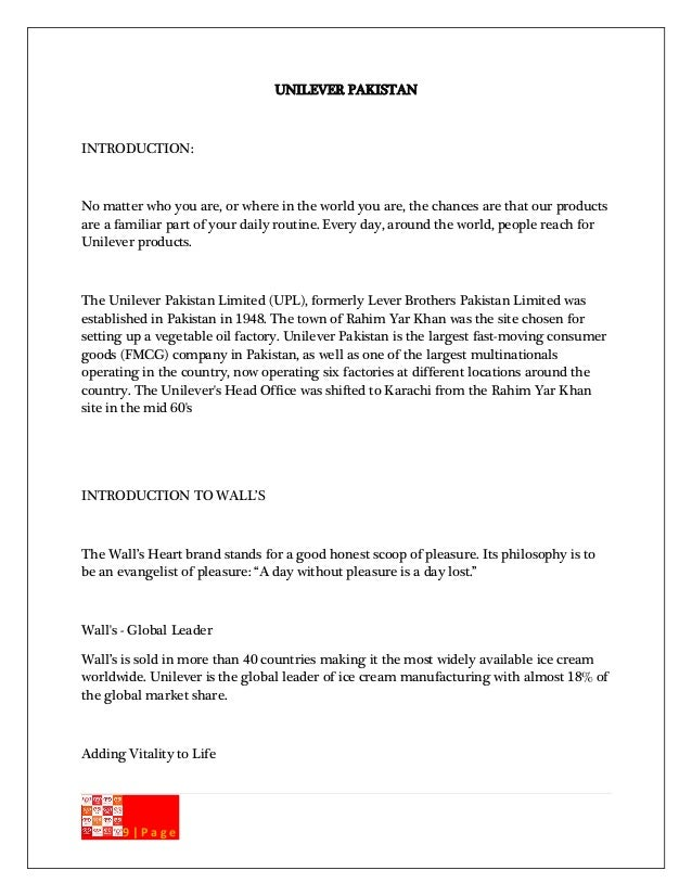 introduction to lever brothers pakistan limited essay Introduction to lever brothers pakistan limited uploaded by  unilever lux  market summary marketing strategies by p&g pakistan for safeguard soap.