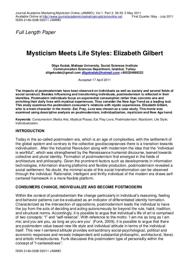 Journal Academic Marketing Mysticism Online (JAMMO). Vol 1. Part 3. 39-55. 5 May 2011 Available Online at http://www.journ...