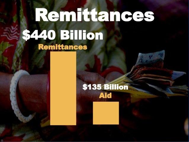 Remittances $440 Billion Remittances $135 Billion Aid