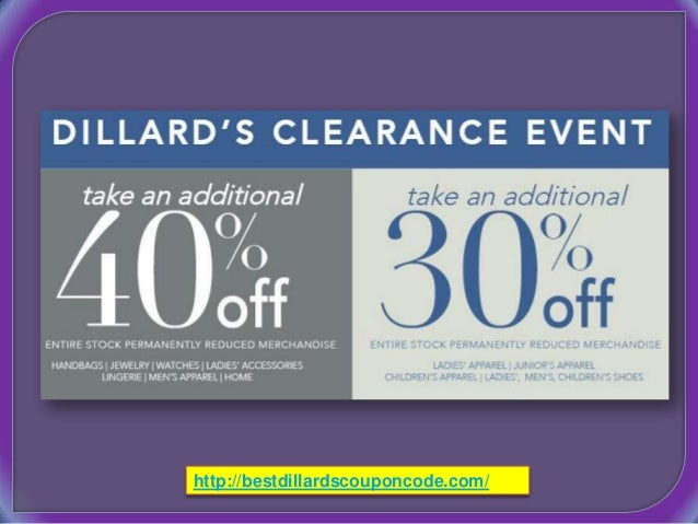 Discount coupons for dillards
