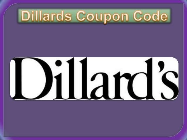 Dillards online coupon code
