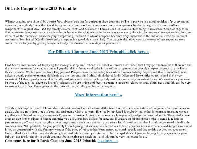 photo about Dillard Coupon Printable named Dillards discount codes june 2013 printable