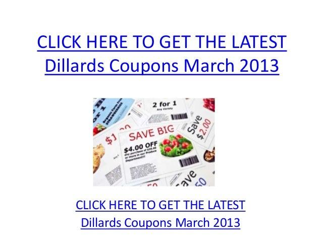 Dillards coupons printable