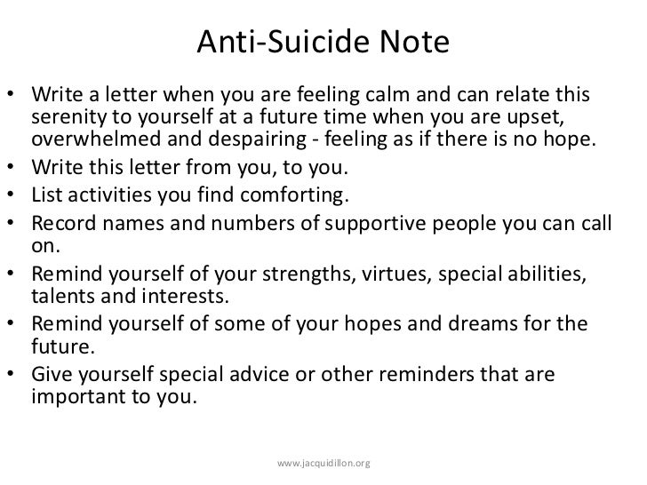 Dillon 56 anti suicide note write expocarfo