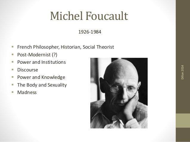 foucaults analysis of power His analysis begins with an examination of the widely held belief that in the victorian era, sexual experience and practice were subjected to a power of repression (smart, 1985) smart (1985, p95) cites foucault as formulating a radically different set of questions.