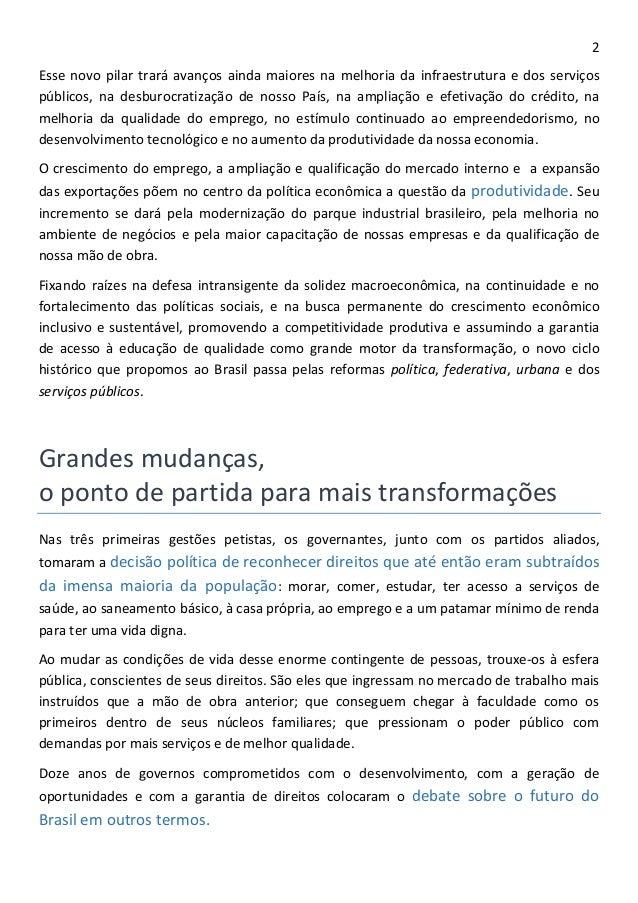 Programa de governo de Dilma Rousseff (PT) Slide 2
