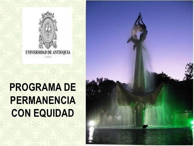 PROGRAMA DEPERMANENCIACON EQUIDAD