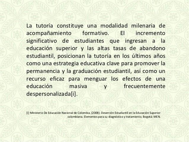 """NORMATIVAS SOBRE TUTORÍA Resolución  Rectoral No. 0378 del 5 de abril de 1988, """"crea el    Programa de Tutoría al Estudia..."""