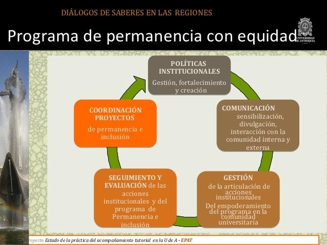 DIÁLOGOS DE SABERES EN LAS REGIONESPrograma de permanencia con equidad                                                    ...