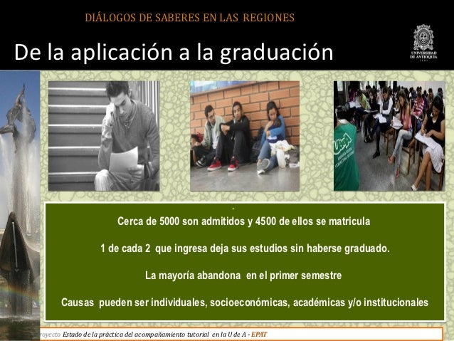DIÁLOGOS DE SABERES EN LAS REGIONESDe la aplicación a la graduación                                                       ...