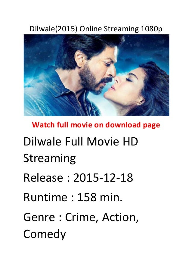 Dilwale(2015) online streaming 1080p best funny action movies