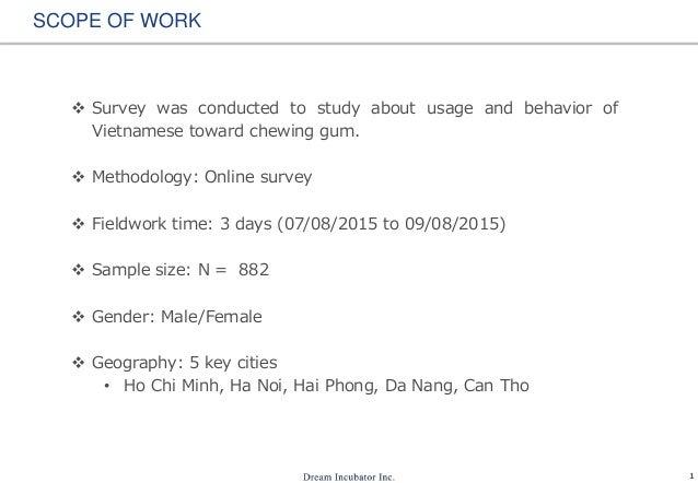 Chewing gum usage in Vietnam Slide 2
