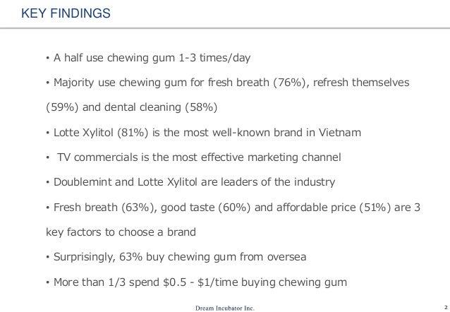 Chewing gum usage in Vietnam Slide 3