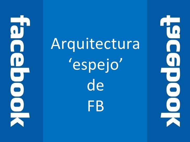 Arquitectura 'espejo' de FB