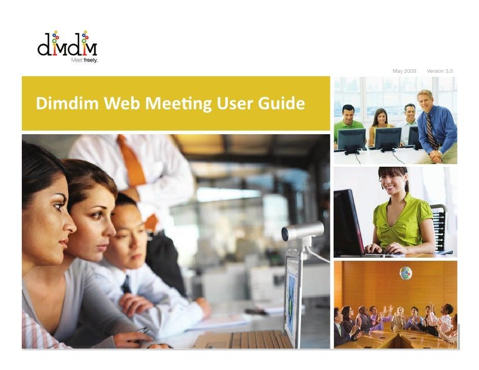 Dimdim Web Meeting User Guide