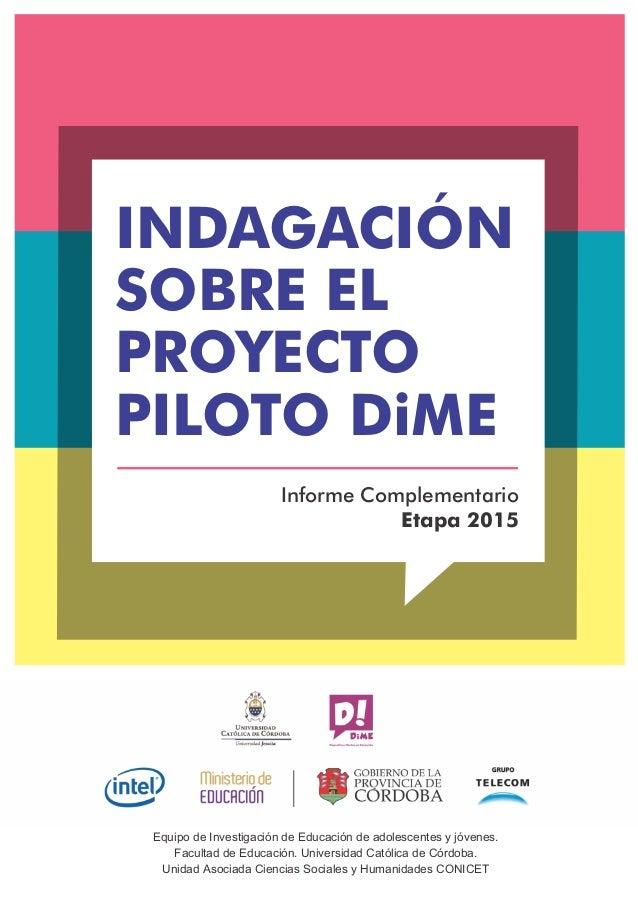 Equipo de Investigación de Educación de adolescentes y jóvenes. Facultad de Educación. Universidad Católica de Córdoba. Un...