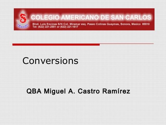 ConversionsQBA Miguel A. Castro Ramírez