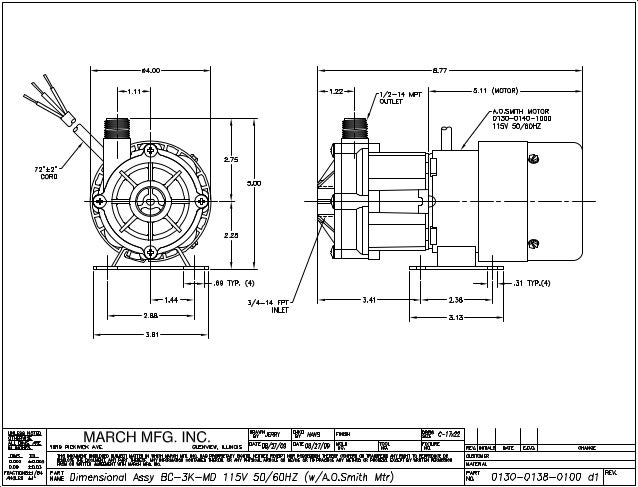 Pump Reference Information From March Pumps Series Bc 3k