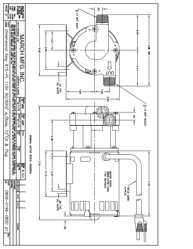 magnetic drive pump dimensional drawing for march pump series 815pl beer pump 1 638?cb=1421424826 magnetic drive pump dimensional drawing for march pump series 815 pl Centrifugal Pump Animation at nearapp.co