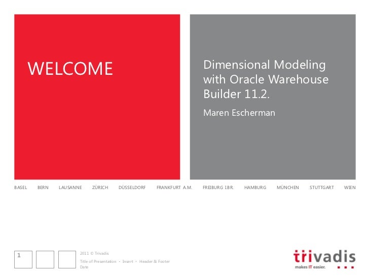 WELCOME                                                                  Dimensional Modeling                             ...
