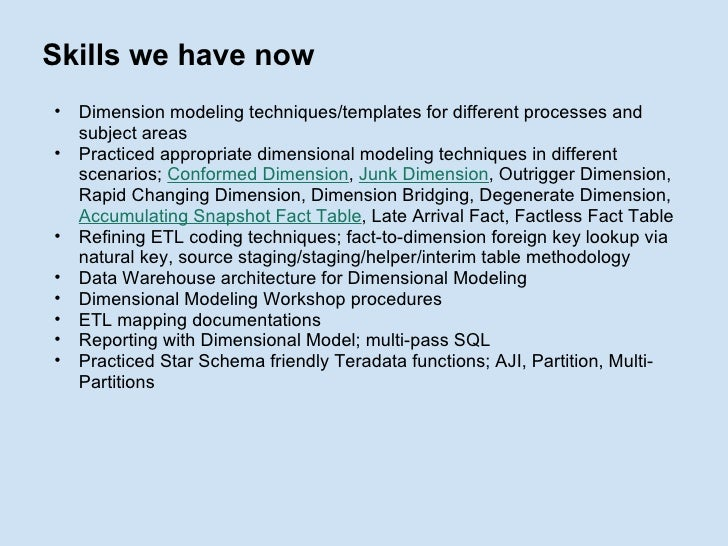 Dimensional Modelling Session 2
