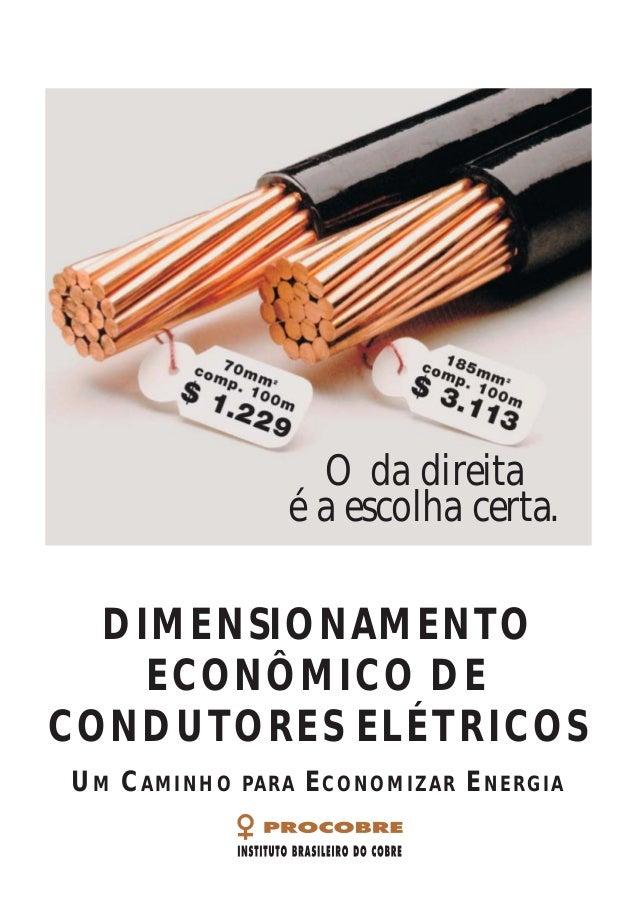 DIMENSIONAMENTO ECONÔMICO DE CONDUTORES ELÉTRICOS UM CAMINHO PARA ECONOMIZAR ENERGIA A P O I O O Instituto Brasileiro do C...