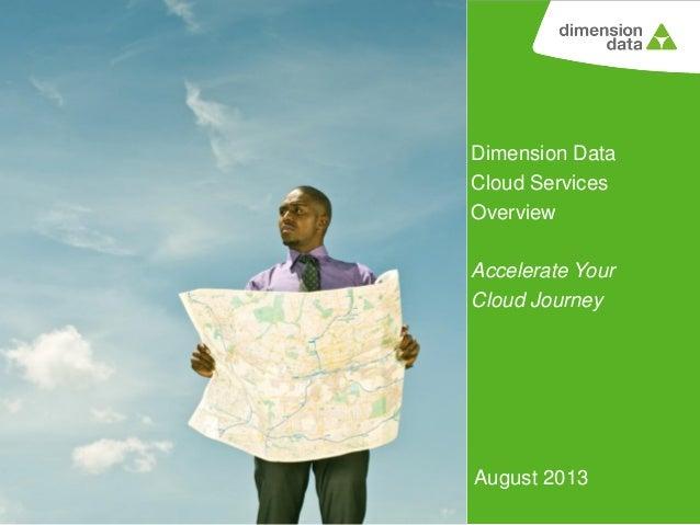 Dimension Data Cloud Services Overview Accelerate Your Cloud Journey  August 2013