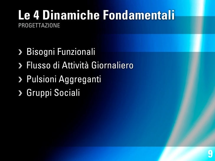 Le 4 Dinamiche Fondamentali PROGETTAZIONE      Bisogni Funzionali   Flusso di Attività Giornaliero  Pulsioni Aggreganti...