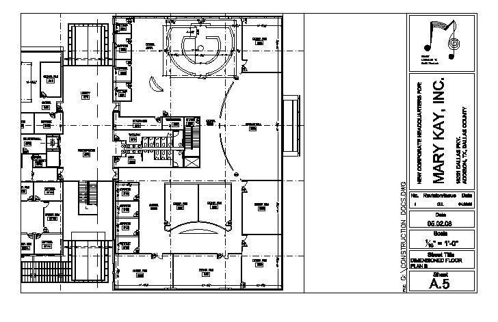 Dimensioned Floor Plan   B