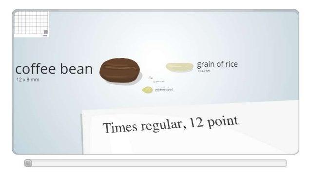 """'n of rice coffee bean gré""""  12x8mm  Times reguhï,  12 point"""