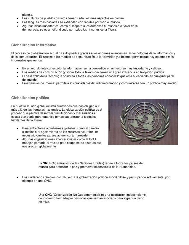 Dimensiones de la globalización Slide 2