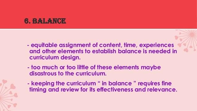 curriculum design dimensions