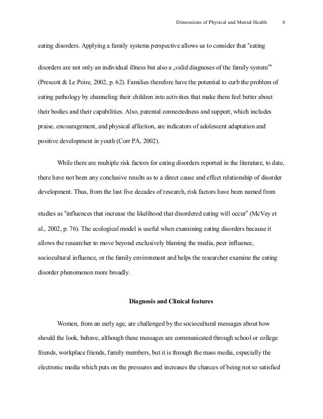 eating disorders a problem essay Essay, term paper research paper on eating disorders.