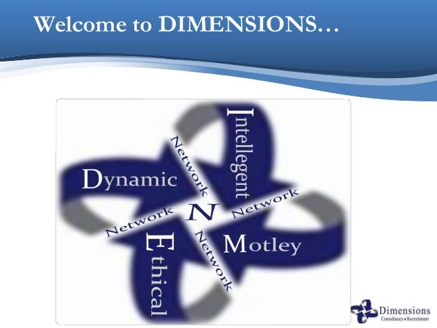Welcome to DIMENSIONS…