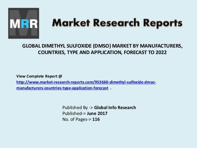 Dimethyl Sulfoxide Market Chemical, Pharmaceutical Application and De…