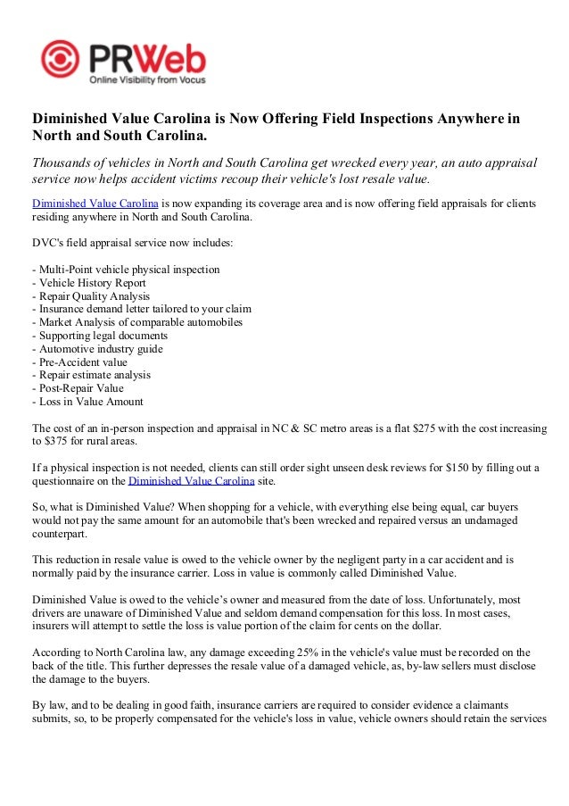 diminished value claim letter diminished value carolina is now offering field 21372