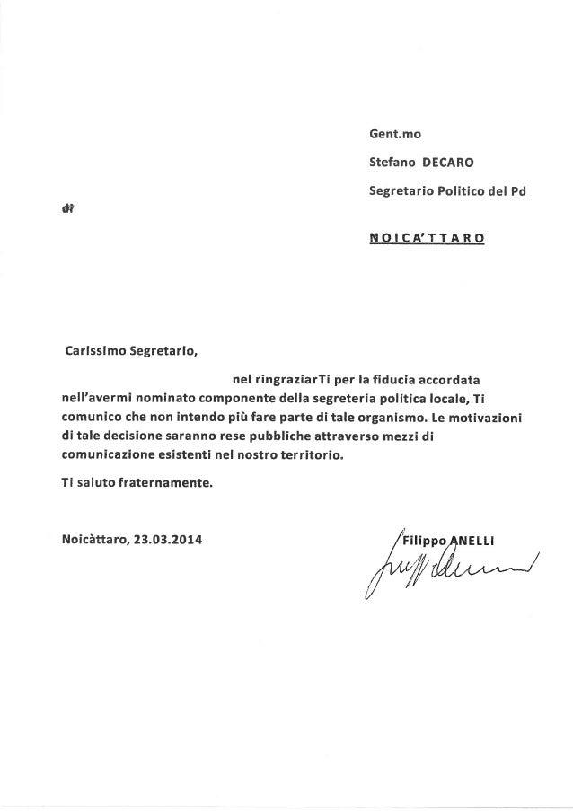 Dimisioni dalla segreteria del pd filippo anelli
